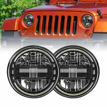 "2020 Newest 7"" inch Round LED Headlight Headlamps with Daytime Running Light DRL High Low Beam for Jeep Wrangler JK TJ LJ 97-2017 Hummber H1 H2"