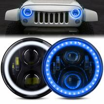 DOT Approved 7 Inch LED Halo Headlights for Jeep Wrangler JK TJ LJ 1997-2018