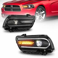 MOSTPLUS LED DRL Headlights w/Sequential